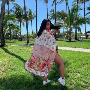 💞 PLUS SIZE Kimono High Low with Side Slits